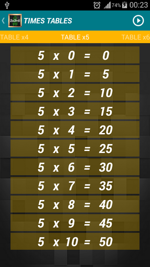 Multiplication - Times Tables- screenshot