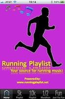 Screenshot of Running Playlist 1.2