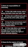 Screenshot of Citizenship Test - Canadian