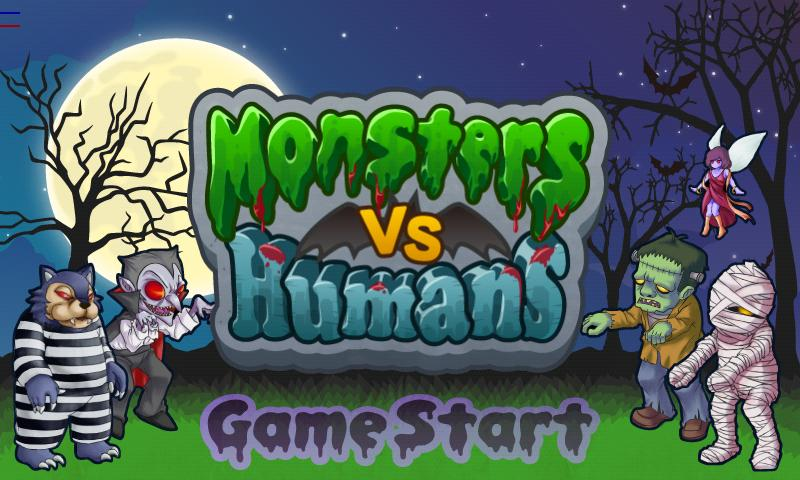 Monsters vs. Humans Games Free - screenshot