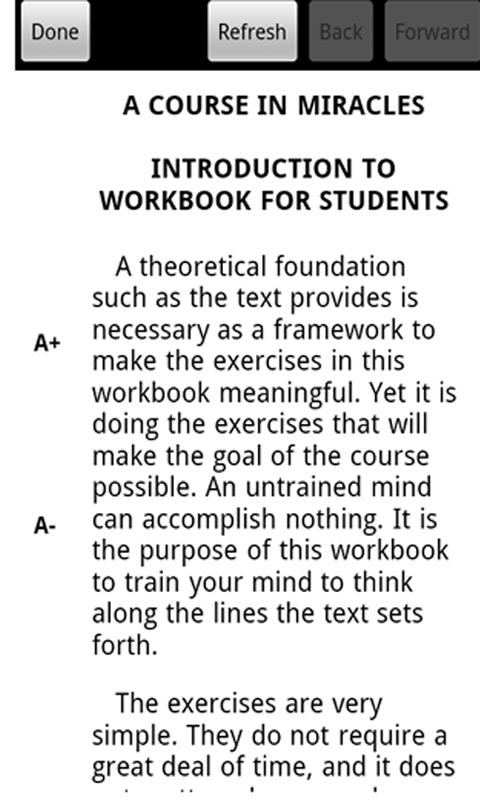 A Course in Miracles: Workbook - screenshot