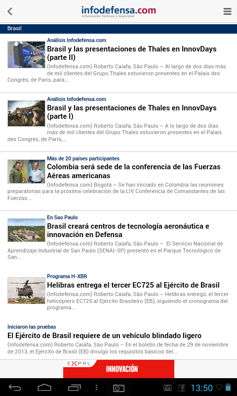 Infodefensa América- screenshot