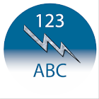 French numbers to letters icon