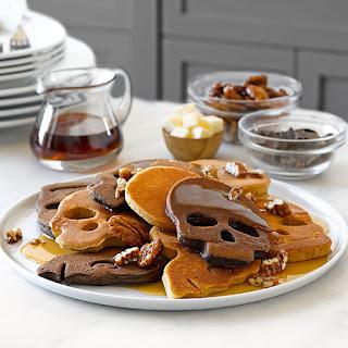 Halloween Skull Pancakes