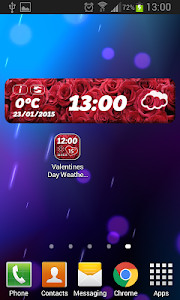 Valentine's Day Weather Widget screenshot 3