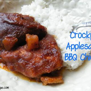 Crockpot Applesauce BBQ Chicken.