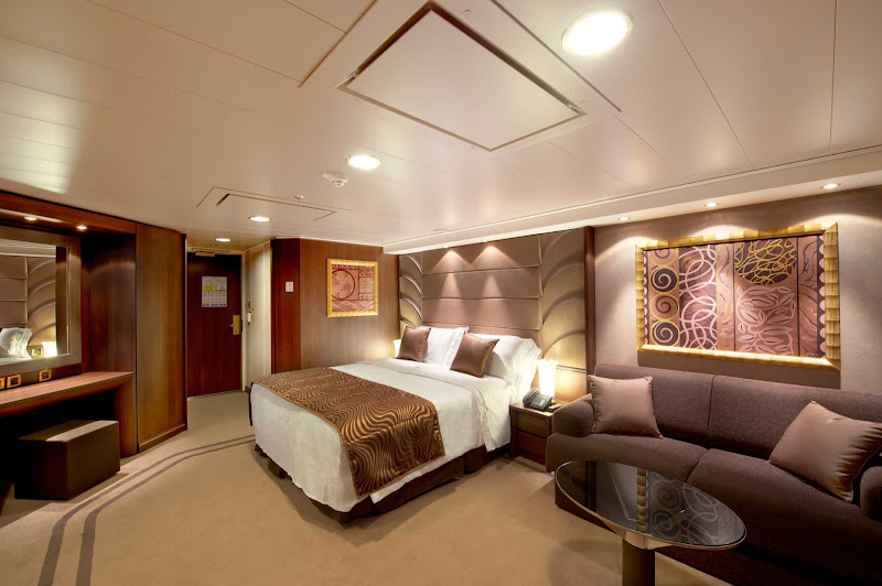 Each MSC Yacht Club Suite is located in a private part of the MSC Divina that includes stunning front-of-ship views, king bed (convertible to two singles), marble bathroom with bathtub, 24-hour butler and concierge service and complimentary minibar.