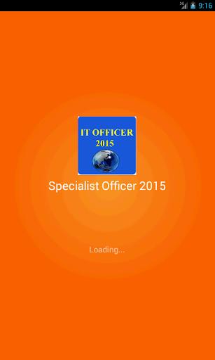 Specialist Officer 2015
