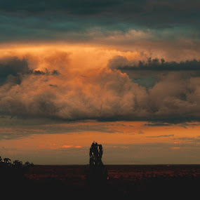 Clouds before rain by Nat Bolfan-Stosic - Uncategorized All Uncategorized ( clouds, orange, sky, storm, rain )