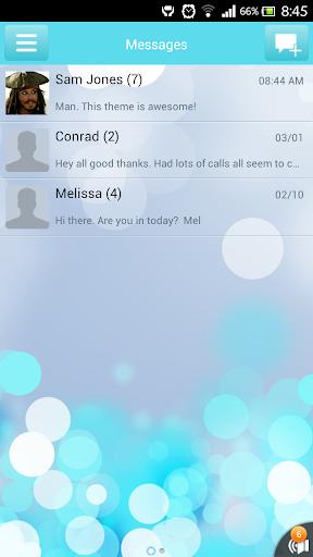 GO SMS Blurry Glass theme
