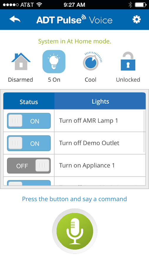 ADT Pulse ® Voice - screenshot