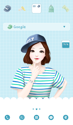 lovelygirl casual dodol theme