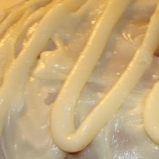 White Chocolate Sour Cream Frosting.