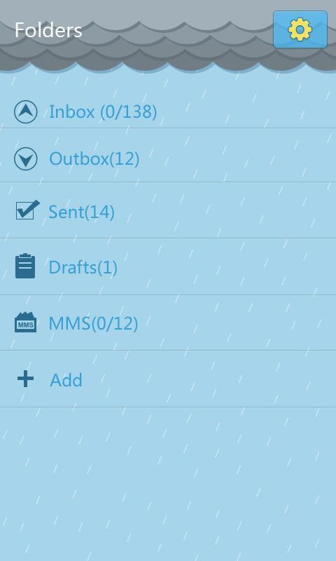 GO SMS Pro Rainy day Theme- screenshot