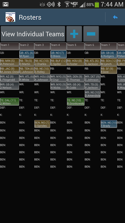Fantasy Football Draft Magnate - screenshot