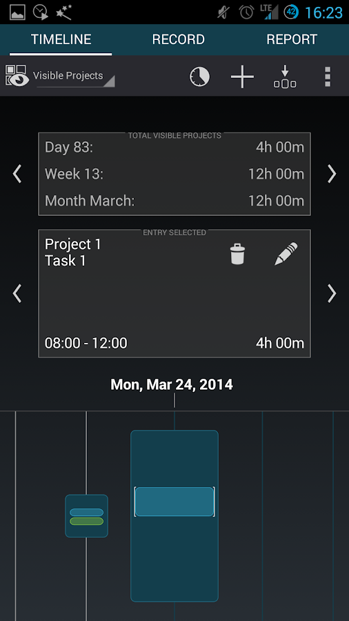Gleeo Time Tracker - screenshot