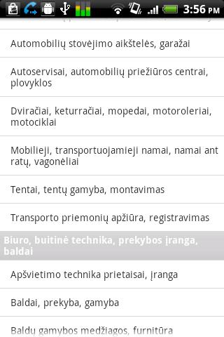 Įmonių katalogas (ekrano kopija)