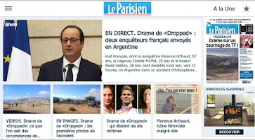 Screenshot of Le Parisien - Info France