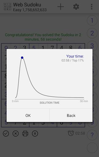 Web Sudoku screenshot