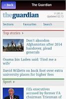 Screenshot of UK News in App- FREE