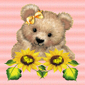 Sunflower Teddy Bear LWP logo