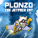 Plonzo: The Jetpack Cat logo