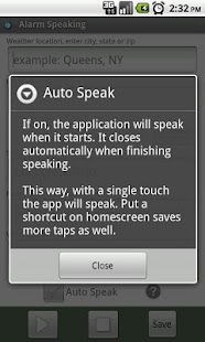 Alarm Speaking- screenshot thumbnail
