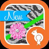 Fun Glitter Zebra Theme GO SMS