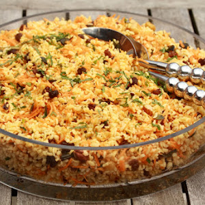 Bulgur Salad with Carrots, Mint, and Raisins