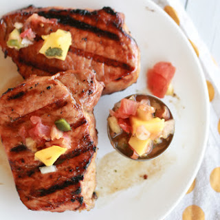 Grilled Pork Chops With Pineapple Mango Salsa