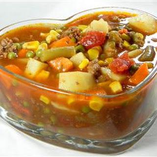 Vegetable Deer Soup.