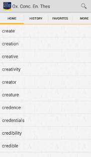 Concise Oxford Thesaurus - screenshot thumbnail