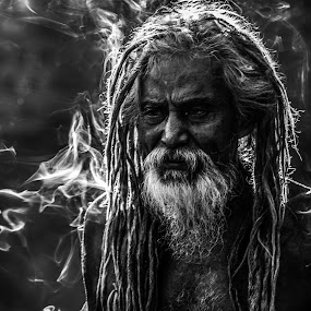Smoking_injures_to_health by Sagr Sen - People Portraits of Men ( portait, digital art, people, smoke, photography )