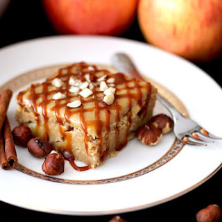 """Apple Pie Blondies with """"Brown Sugar"""" Frosting."""