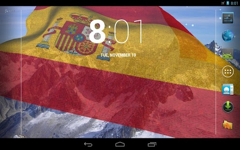 3D Spain Flag Live Wallpaper