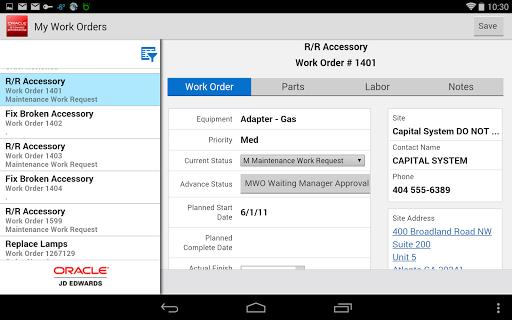 My Work Orders - JDE E1