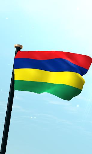 毛里求斯旗3D免費動態桌布