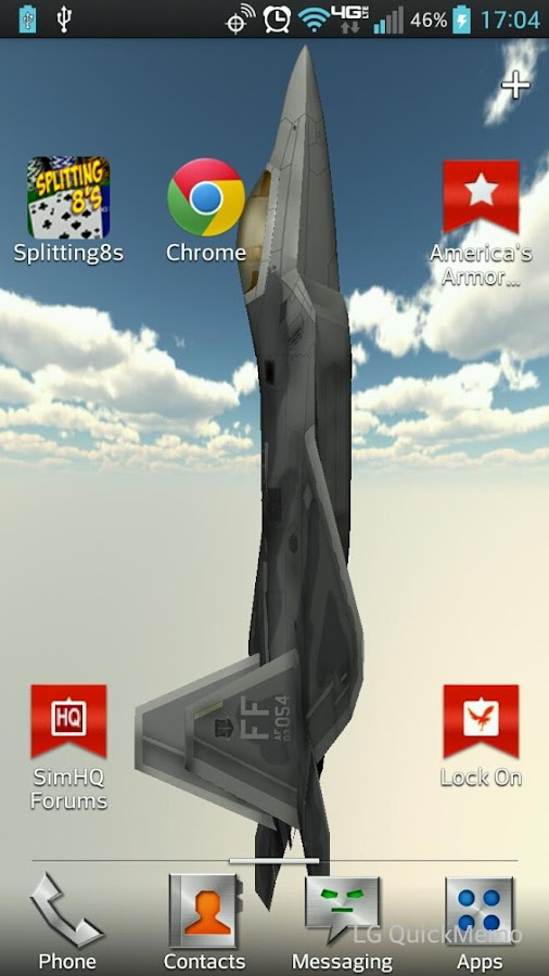 F 22 Raptor Live Wallpaper Android Apps On Google Play