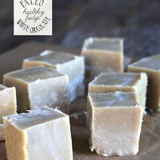 Healthy White Chocolate Paleo Fudge.