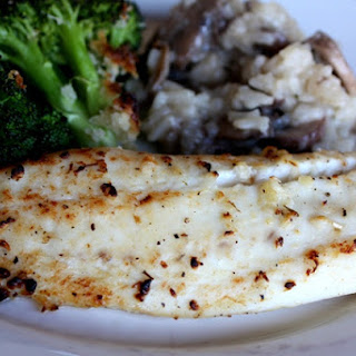 Lemon and Garlic Broiled Tilapia.