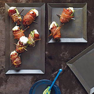 Dates with Goat Cheese Wrapped in Prosciutto.