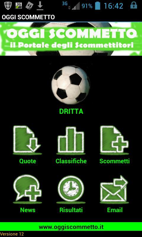 Oggi Scommetto- screenshot
