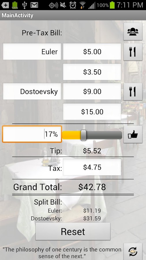 Just The Tip (Tip Calculator)- screenshot