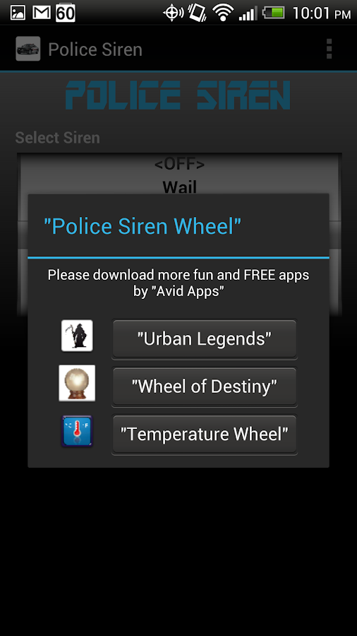 Police Siren Wheel - screenshot