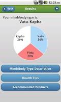 Screenshot of Ayurveda Vata-Pitta-Kapha Quiz