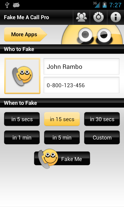 Fake Me A Call Pro- screenshot