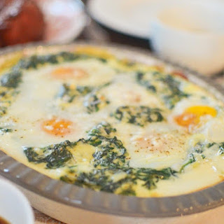 Creamed Spinach with Baked Eggs.