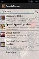 Screenshot of Indian Recipe Book