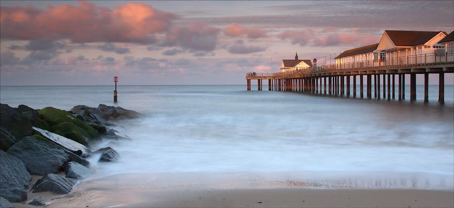 Sunset Southwold Pier by Eric Bush - Landscapes Sunsets & Sunrises ( sunsets, suffolk,  )