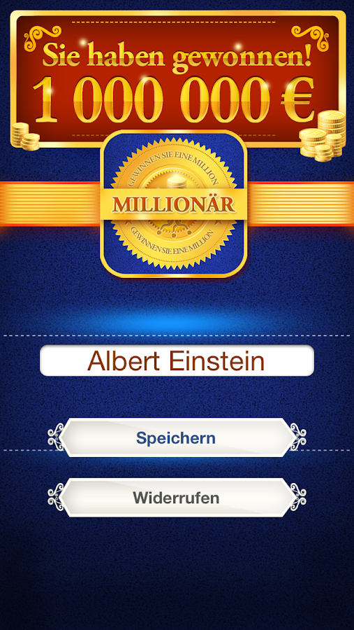 Millionär - screenshot